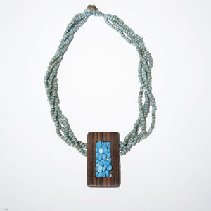 Jewelry - Ethnic Tribal Blue beaded Handmad Pendant necklace